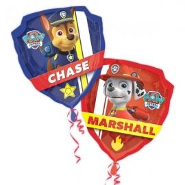 Globo dos caras Patrulla Canina Chase y Marshall