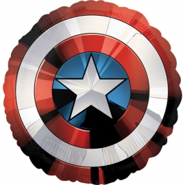 Globo Escudo Capitán América 70 cm
