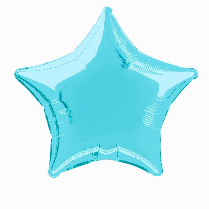 Globo Estrella Azul Claro 50 cm