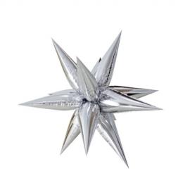 Globo Estrella Plateada 3D