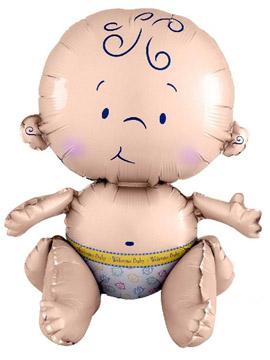 Globo Foil Bebé Sentado 38 cm