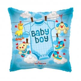 Globo Foil cuadrado Bebé Niño 45 cm