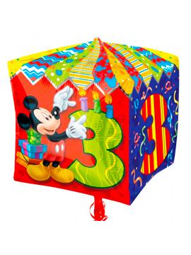 Globo de Foil cubo Mickey Número 3