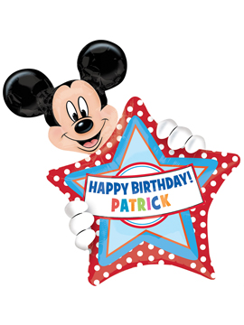 Globo Foil Mickey Mouse Personalizable
