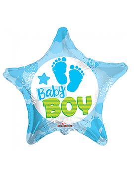 Globo Foil Estrella Bebé Niño 45 cm