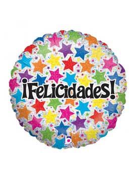 Globo Foil Felicidades Estrellas 45 cm