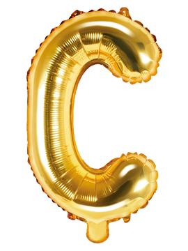 Globo Foil Letra C Dorado 35 cm