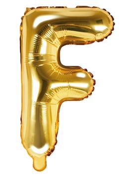 Globo Foil Letra F Dorado 35 cm