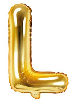 Globo Foil Letra L Dorado 35 cm