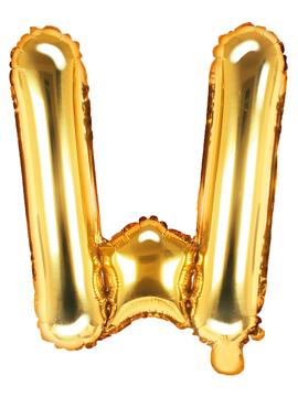 Globo Foil Letra W Dorado 35 cm
