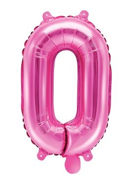 Globo Foil Número 0 Rosa Intenso 35 cm