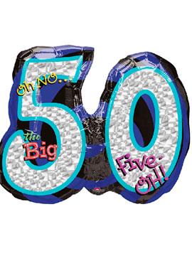 Globo Foil Número 50 Diamante