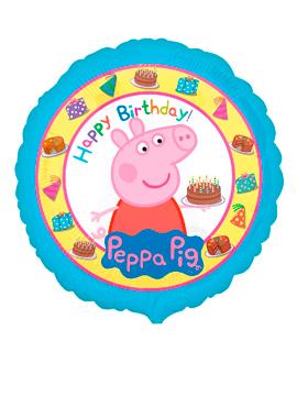 Globo Foil Peppa Pig Feliz Cumpleaños 43 cm