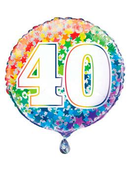 Globo Foil Rainbow Nº 40 45 cm