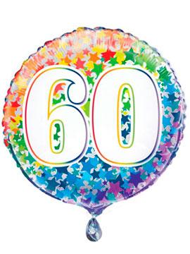 Globo Foil Rainbow Nº 60 45 cm
