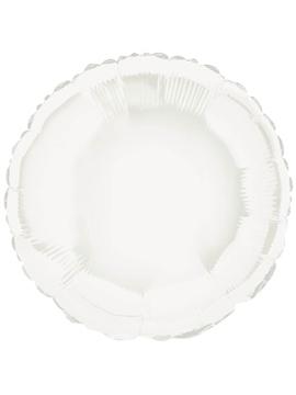 Globo de Foil Redondo Blanco 45 cm