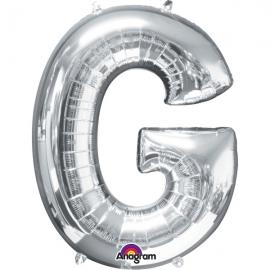 Globo letra G 40 cm Plata