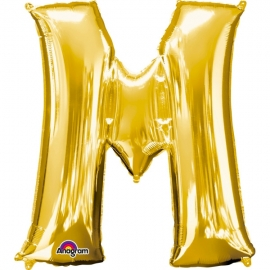 Globo Letra M 40 cm Dorado