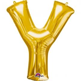 Globo Letra Y 40 cm Dorado