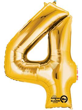 Globo nº 4 Dorado 86 cm