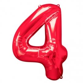 Globo Nº 4 Rojo 86 cm