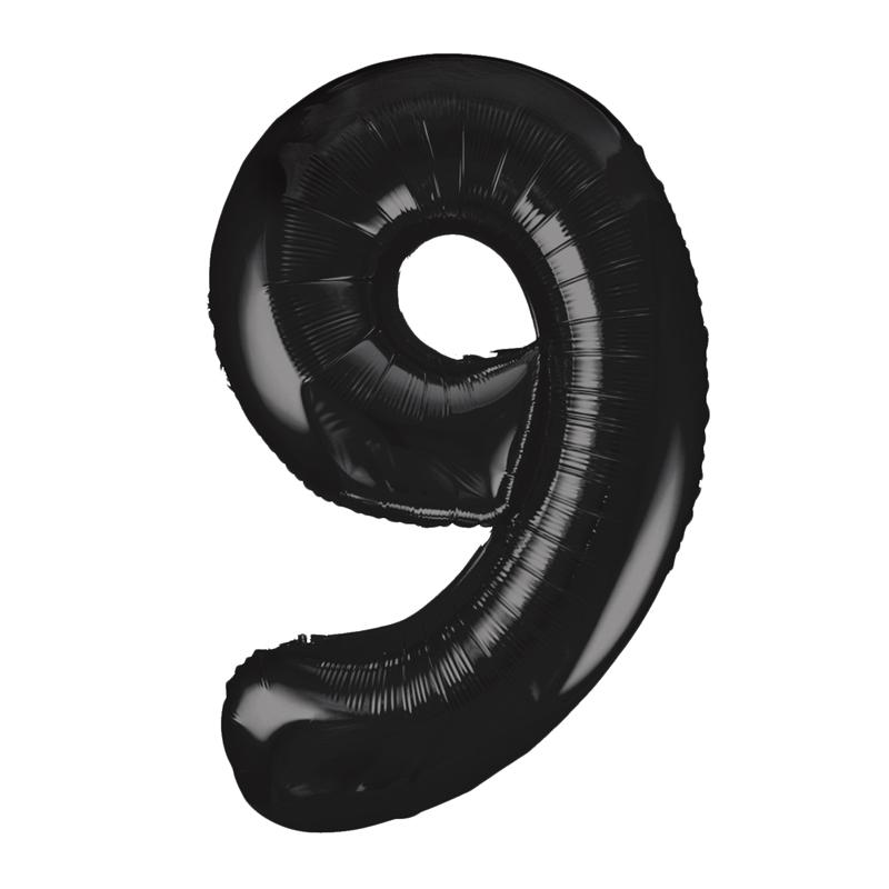 Globo Nº 9 Negro 86 cm