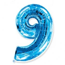 Globo Nº9 Azul 1m