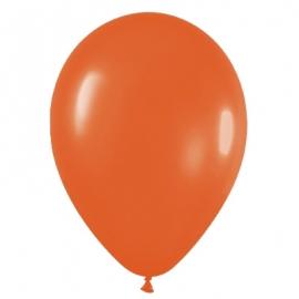 Pack de 10 globos de látex naranja mate