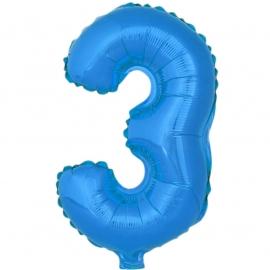 Globo Número 3 Azul 40cm - Miles de Fiestas