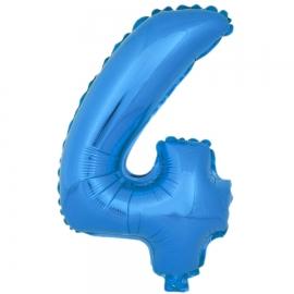 Globo Número 4 Azul 40cm - Miles de Fiestas