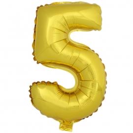 Globo Número 5 Dorado 40cm - Miles de Fiestas
