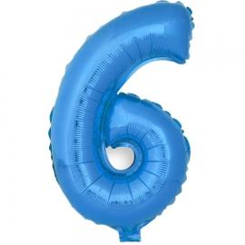 Globo Número 6 Azul 40cm - Miles de Fiestas