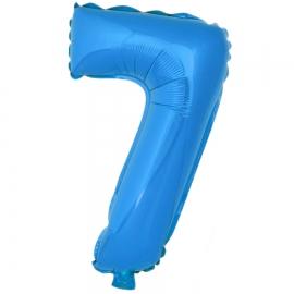 Globo Número 7 Azul 40cm