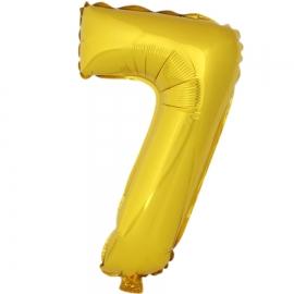 Globo Número 7 Dorado 40cm