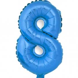 Globo Número 8 Azul 40cm