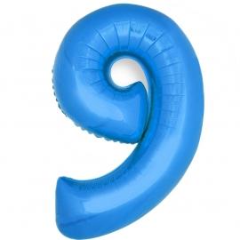 Globo Número 9 Azul 40cm - Miles de Fiestas