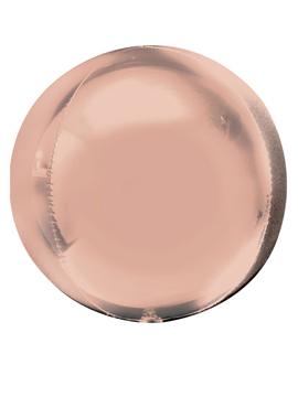 Globo Orbz Rosa Dorado 40 cm