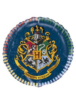 Globo de foil con forma redonda con la imagen del escudo de Howgarts de Harry Potter