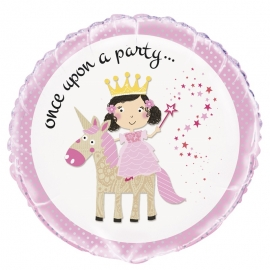 Globo Princesa y Unicornio 45 cm