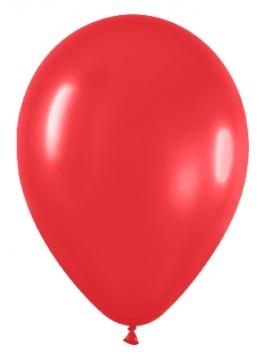 Pack de 10 globos rojo mate