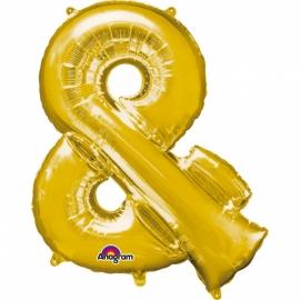 Globo Símbolo & (et) 40 cm Dorado