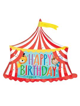 Globo de foil de cumpleaños con forma de circo de 71 cm