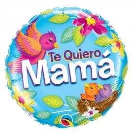 Globo Foil Redondo Te Quiero Mamá 45 cm