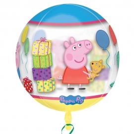 Globo Burbuja Peppa Pig y George 38 cm