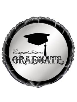 Globo de foilredondo con birrete para fiesta de graduación