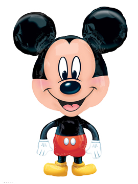 Globo de foil de Mickey Mouse Air Walker de 76 cm