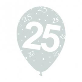 Paxk de 10 Globos 25 aniversario
