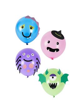 Globos de Monstruos 4 Diseños 8 ud