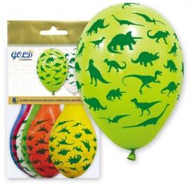 Globos Dinosaurios 6 unidades