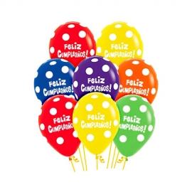 Globos Feliz Cumpleaños Colores Surtidos
